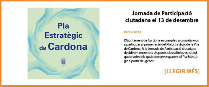 Jornada de Participació ciutadana el 13 de desembre