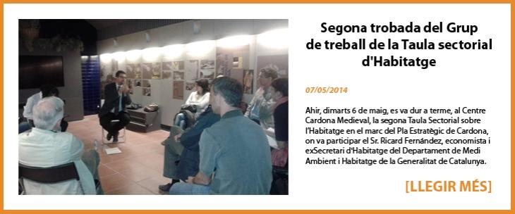 Segona trobada del Grup de treball de la Taula sectorial d'Habitatge